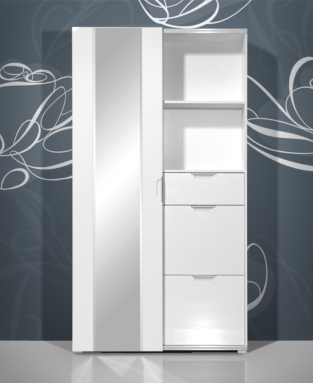 schiebet rschrank kleiderschrank schrank schiebet r mod gm314 weiss hochglanz ebay. Black Bedroom Furniture Sets. Home Design Ideas