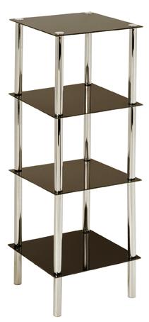 standregal b cherregal regal blumenregal eiche schwarz glas wei hochglanz ebay. Black Bedroom Furniture Sets. Home Design Ideas