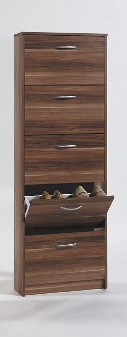 schuhschrank mit 5 schuhkipper verschiedenen farben buche weiss nussbaum eiche ebay. Black Bedroom Furniture Sets. Home Design Ideas