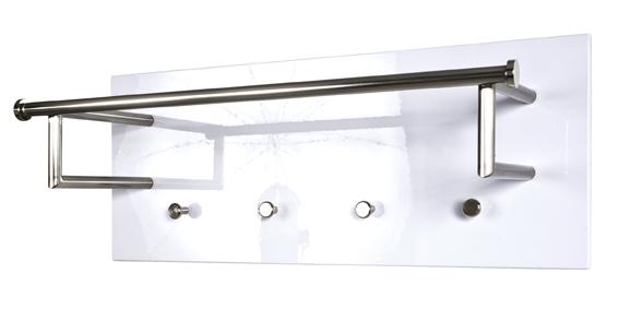 wandgarderobe garderobenhaken garderobe edelstahloptik weiss eiche nussbaum ebay. Black Bedroom Furniture Sets. Home Design Ideas
