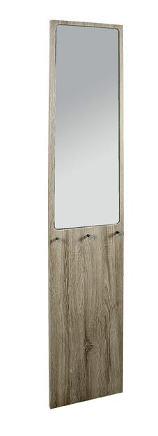 wandgarderobe garderobenpaneel garderobe mit spiegel gelb grau eiche weiss ebay. Black Bedroom Furniture Sets. Home Design Ideas