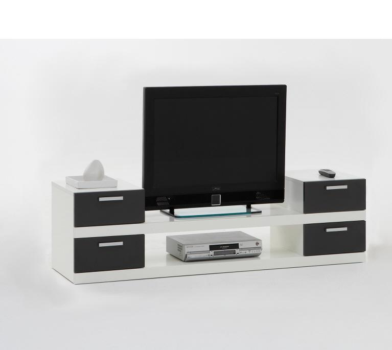 tv ablage hifi regal lowboard unterschrank mod tv624 weiss anthrazit grau ebay. Black Bedroom Furniture Sets. Home Design Ideas