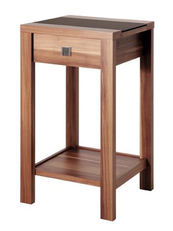 beistelltisch set konsole satztisch tisch kommode nussbaum schwarz glas ebay. Black Bedroom Furniture Sets. Home Design Ideas