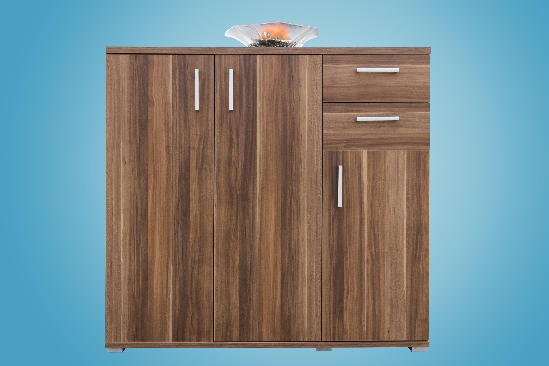kommode aktenschrank sideboard mehrzweckschrank mod k540 nussbaum ebay. Black Bedroom Furniture Sets. Home Design Ideas