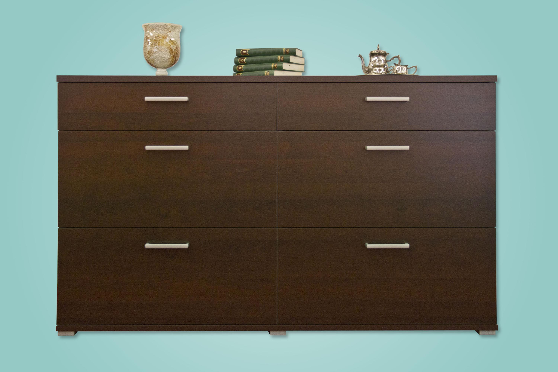 Sideboard nussbaum optik  Sideboard Schubladenkommode Kommode Mod.K417 Mooreiche Grau ...