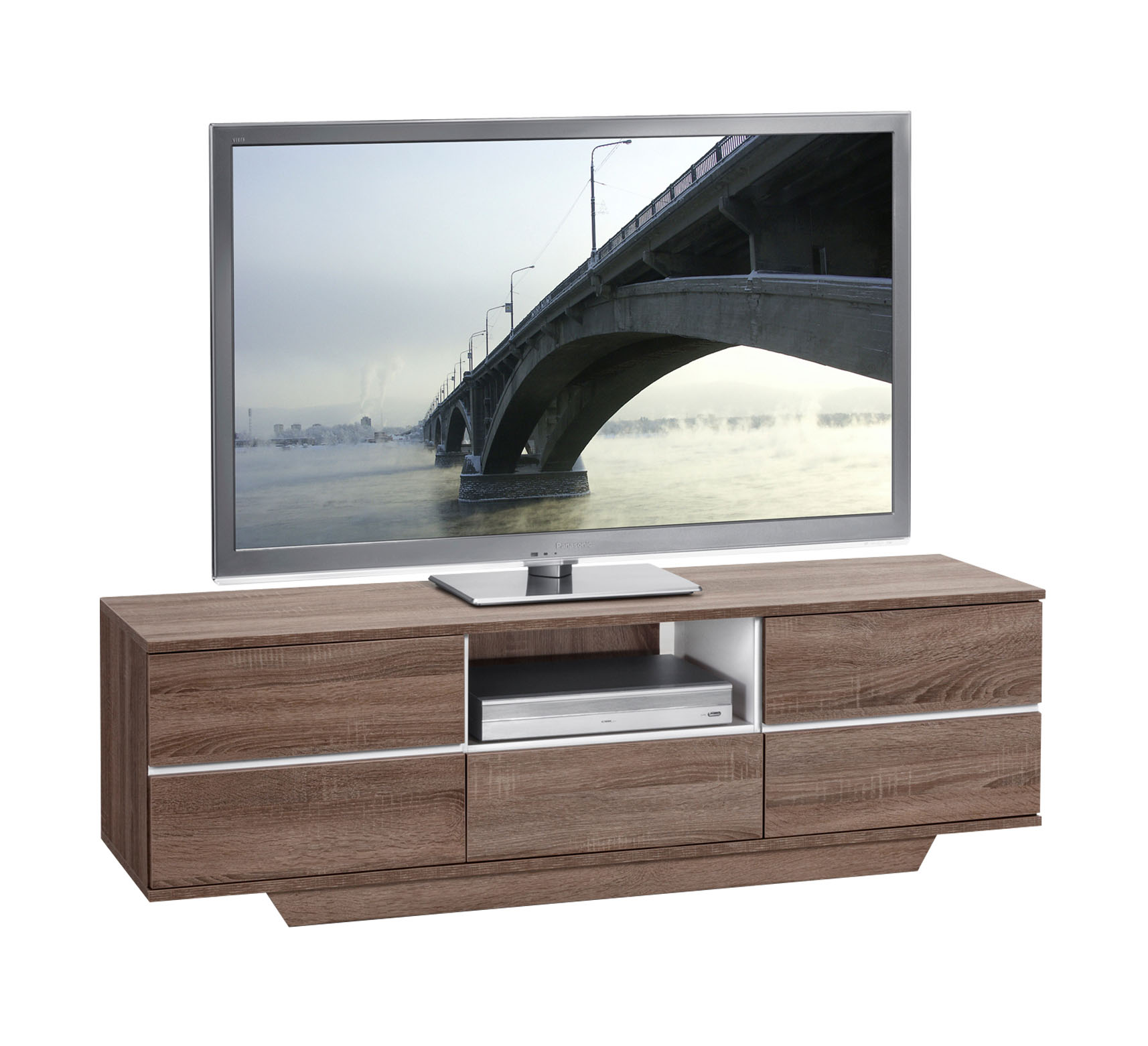 tv lowboard unterschrank ablage bank hifi regal mod tv652 sonoma tr ffel eiche ebay. Black Bedroom Furniture Sets. Home Design Ideas