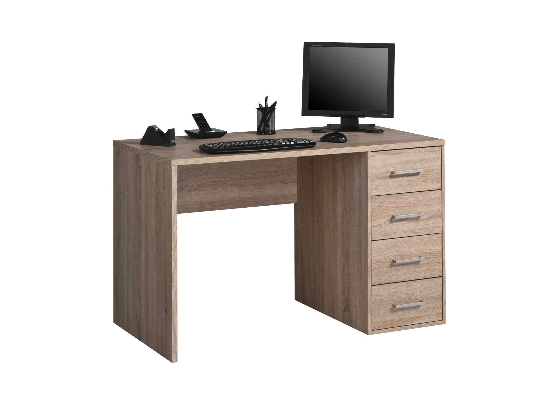 schreibtisch arbeitstisch workstation b rotisch mod t149 weiss sonoma eiche ebay. Black Bedroom Furniture Sets. Home Design Ideas