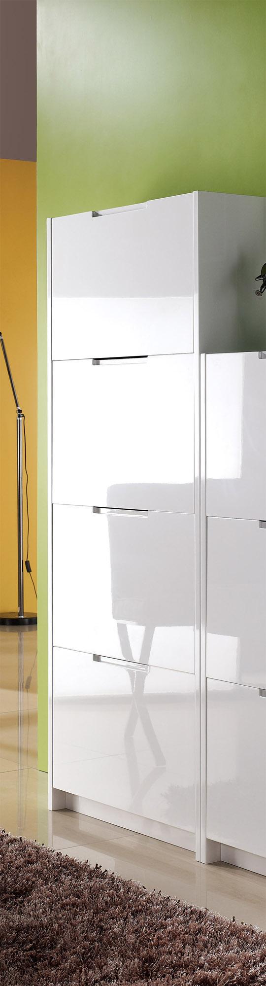 schuhschrank schuhe schuhkipper 3 4 kipper mdf weiss hochglanz led beleuchtung ebay. Black Bedroom Furniture Sets. Home Design Ideas