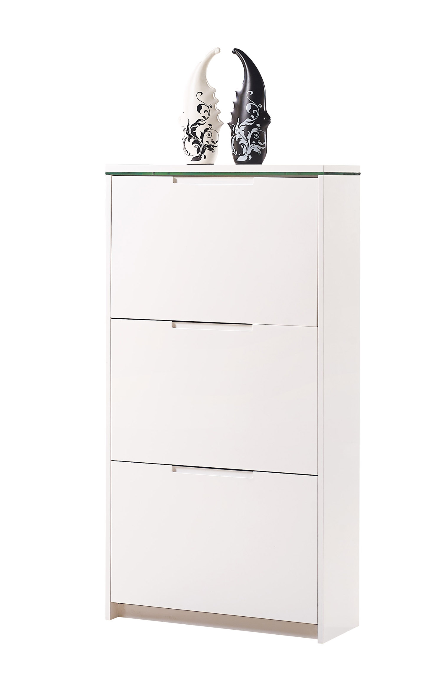 schuhschrank schuhe schuhkipper 3 4 kipper mdf weiss hochglanz led beleuchtung ebay. Black Bedroom Furniture Sets. Home Design Ideas