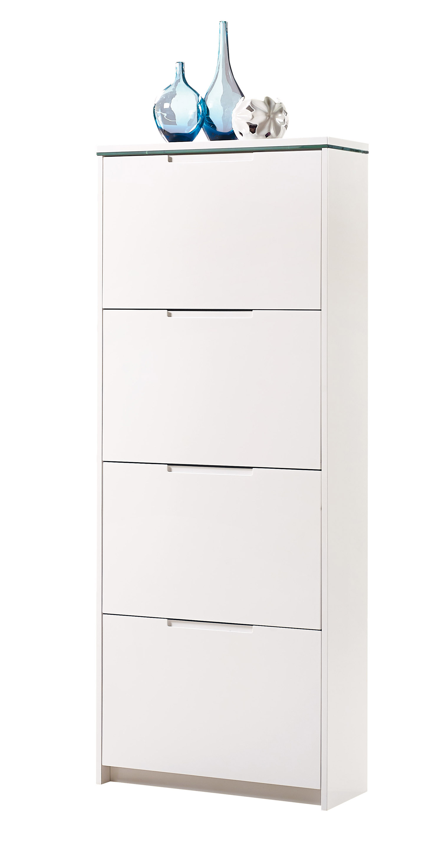 schuhschrank schuhe schuhkipper 3 4 kipper mdf weiss. Black Bedroom Furniture Sets. Home Design Ideas