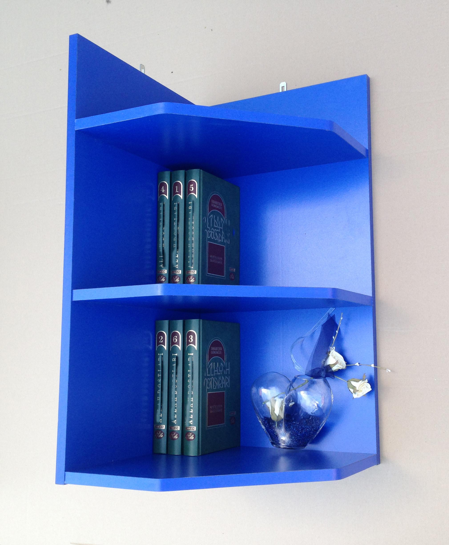eckregal wandregal b cherregal regal mod r462 blau kiefer alu. Black Bedroom Furniture Sets. Home Design Ideas
