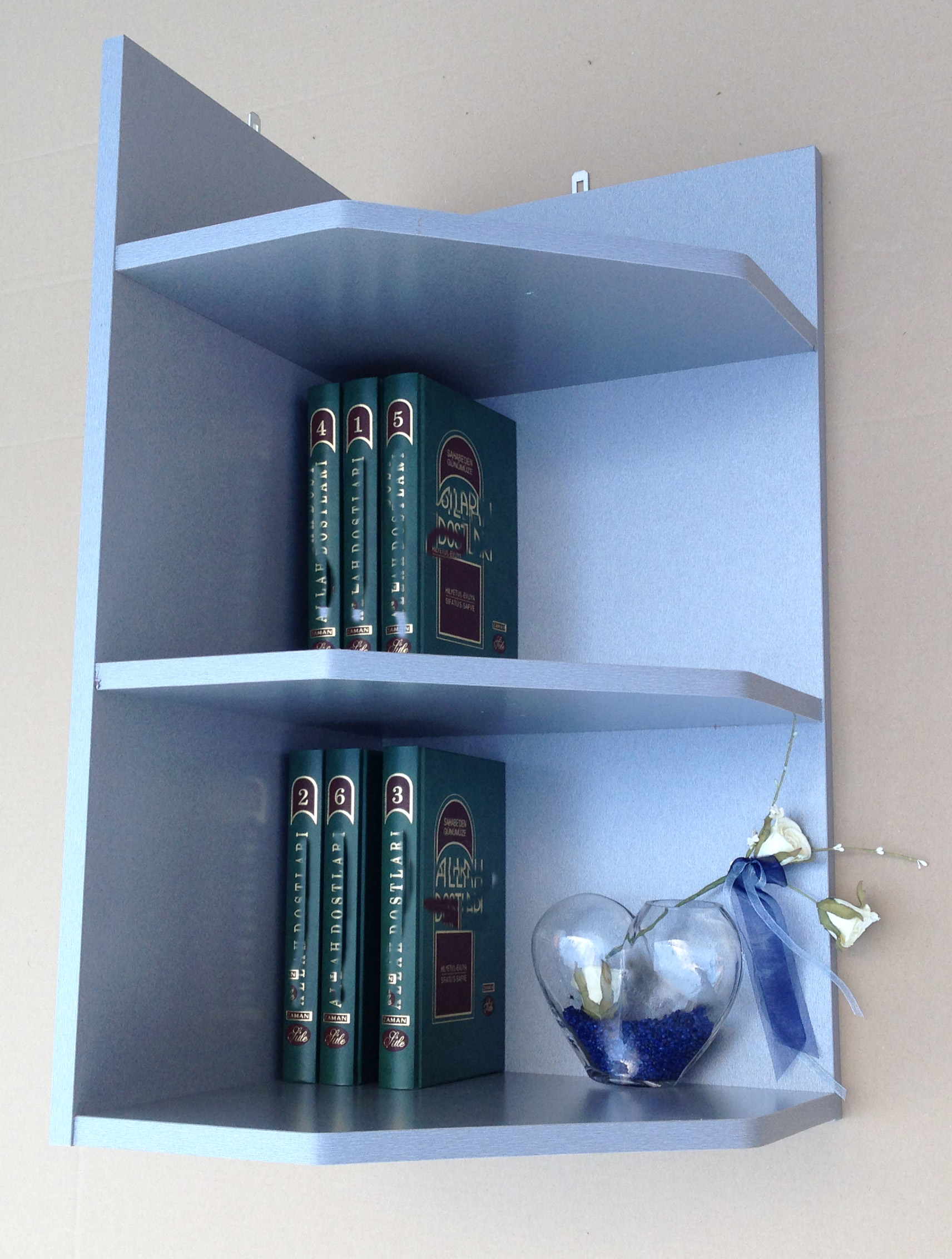 eckregal wandregal b cherregal regal mod r462 blau kiefer. Black Bedroom Furniture Sets. Home Design Ideas