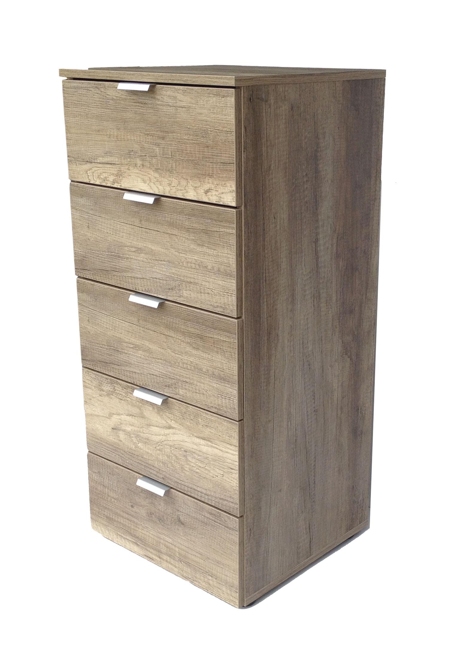 kommode highboard flurkommode 5 schubladen wildeiche sand hochglanz cs schmal ebay. Black Bedroom Furniture Sets. Home Design Ideas