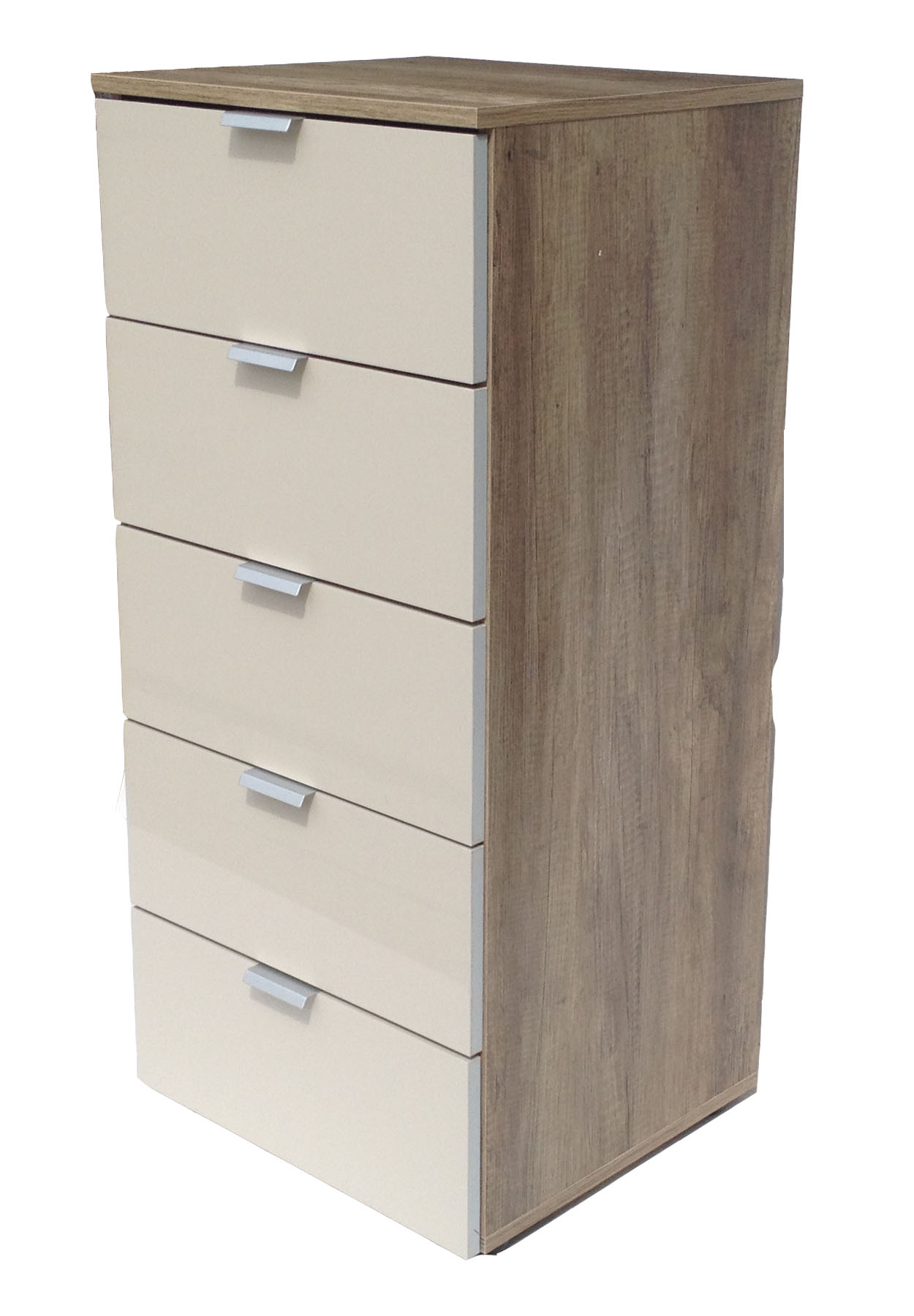 kommode highboard flurkommode 5 schubladen wildeiche sand. Black Bedroom Furniture Sets. Home Design Ideas