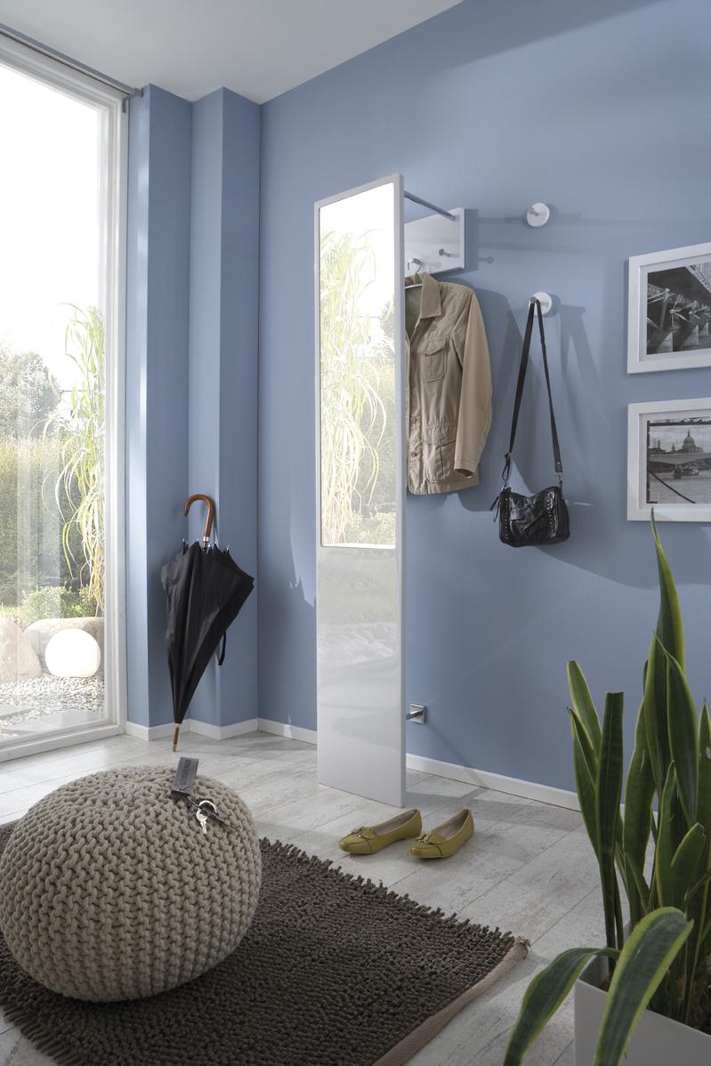 wandgarderobe flurgarderobe kleidergarderobe spiegel mod 42380 weiss hochglanz ebay. Black Bedroom Furniture Sets. Home Design Ideas