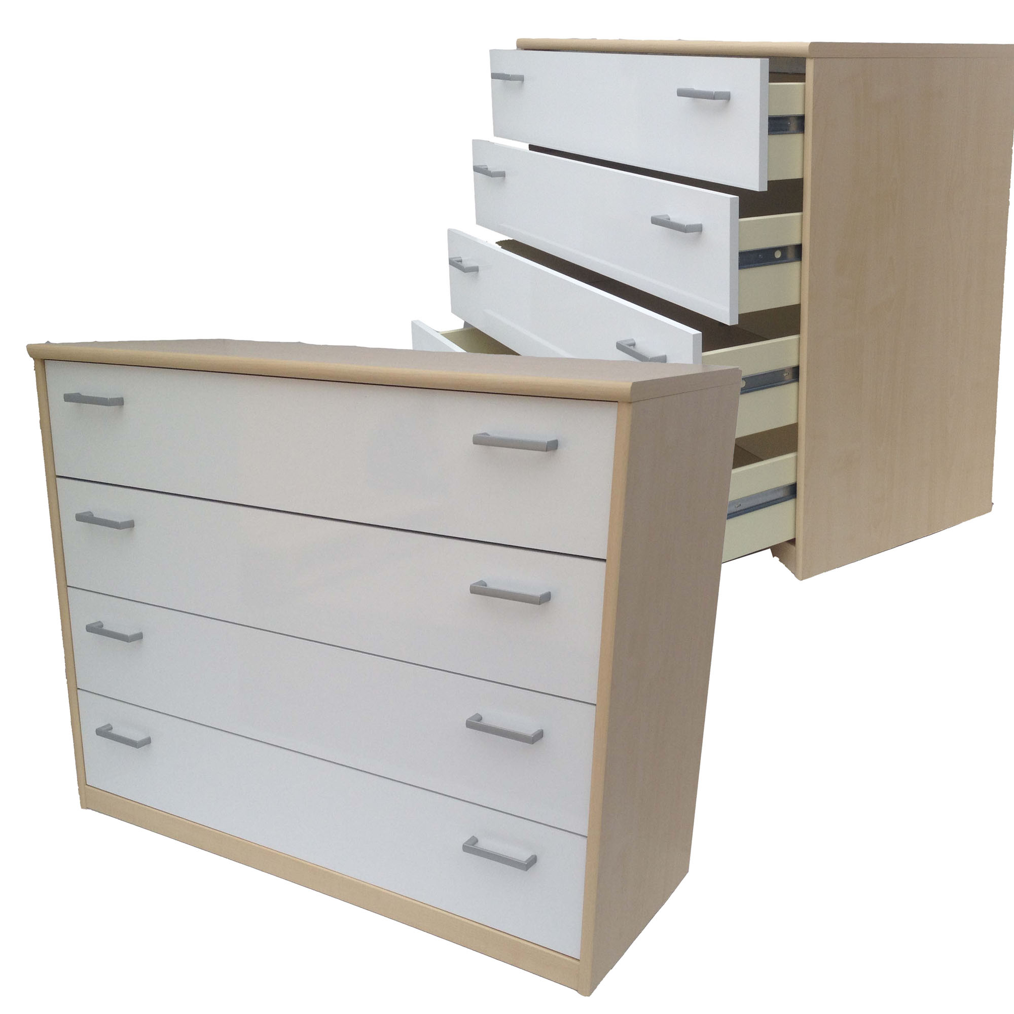 Kommode highboard schubladenkommode anrichte 4 schub ahorn for Kommode cs schmal