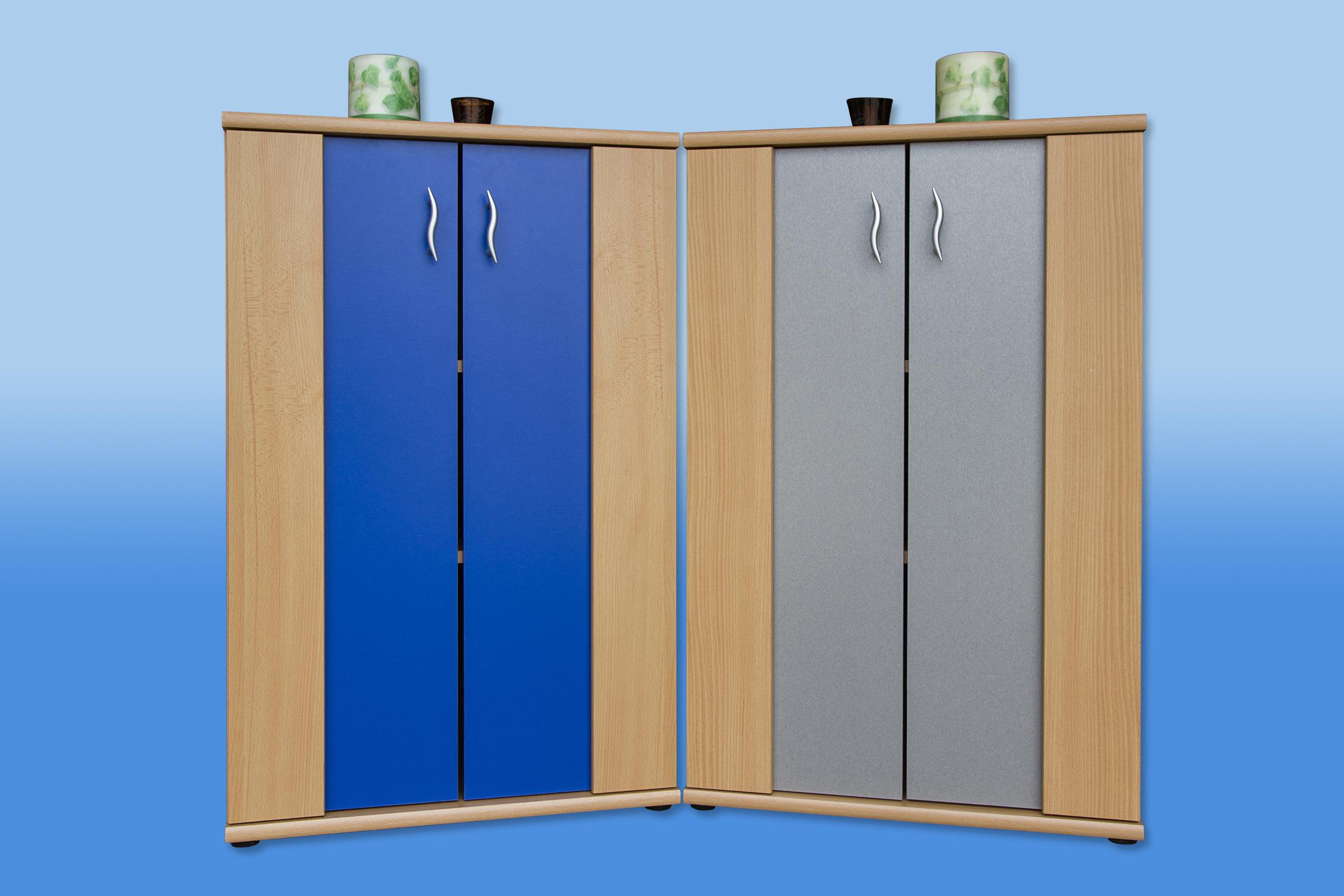 kommode mehrzweckkommode schrank mod k527 buche blau silber ebay. Black Bedroom Furniture Sets. Home Design Ideas