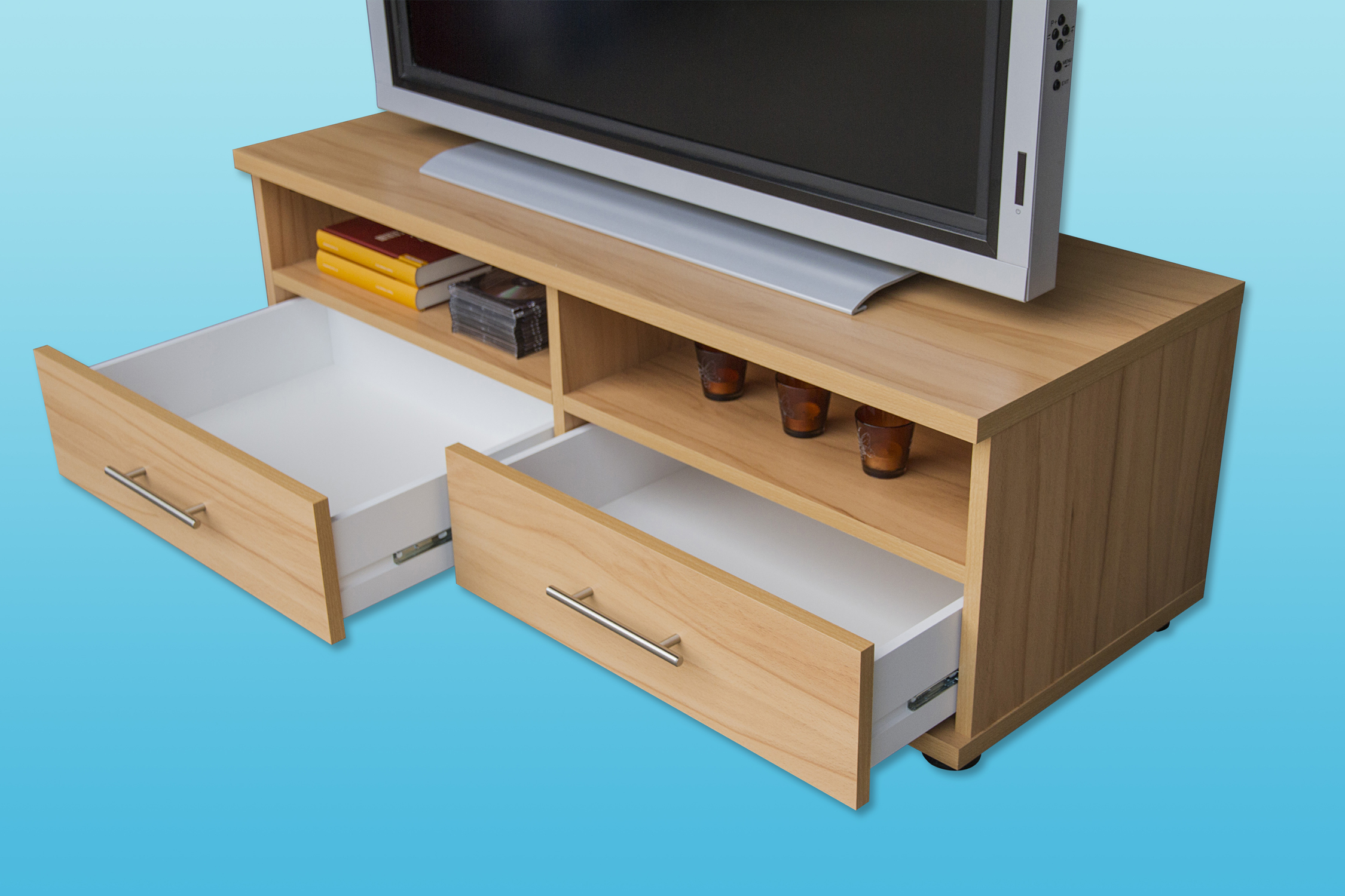 tv lowboard tv schrank mod tv650 kernbuche nussbaum buche hochglanz geseke. Black Bedroom Furniture Sets. Home Design Ideas