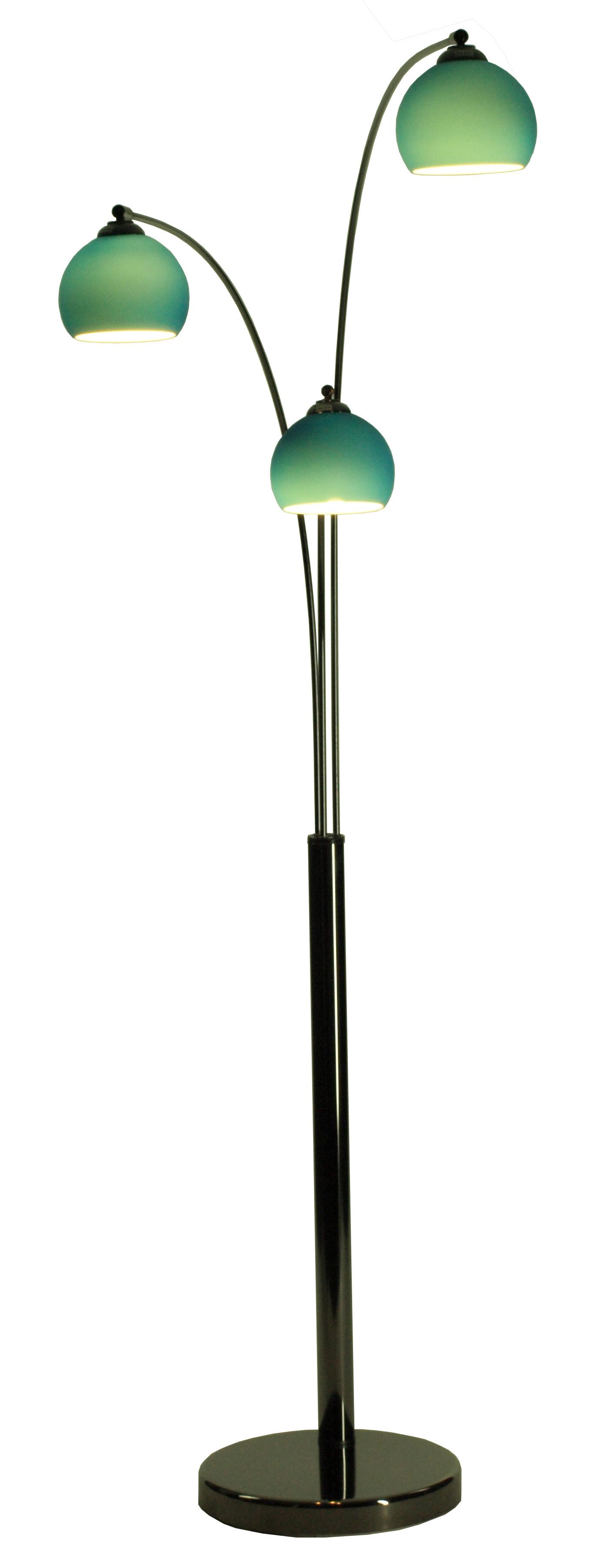 design bogenleuchte stehlampe stehleuchte bogenlampe blau. Black Bedroom Furniture Sets. Home Design Ideas