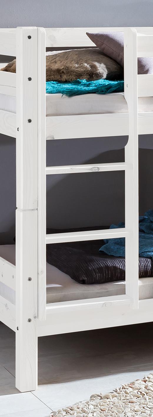 etagenbett hochbett doppelbett kinderbett mod bt809 kiefer massiv natur weiss ebay. Black Bedroom Furniture Sets. Home Design Ideas