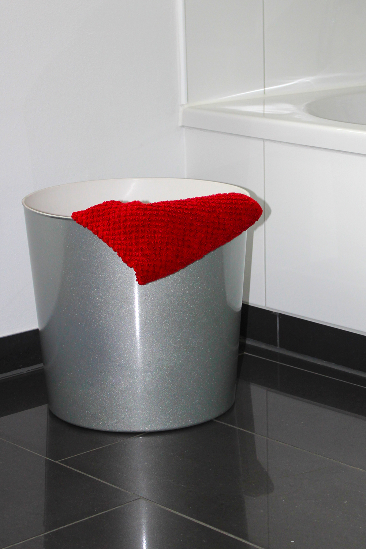 papierkorb hocker eimer blumentopf beistelltisch gartendeko hochglanz weiss lila ebay. Black Bedroom Furniture Sets. Home Design Ideas