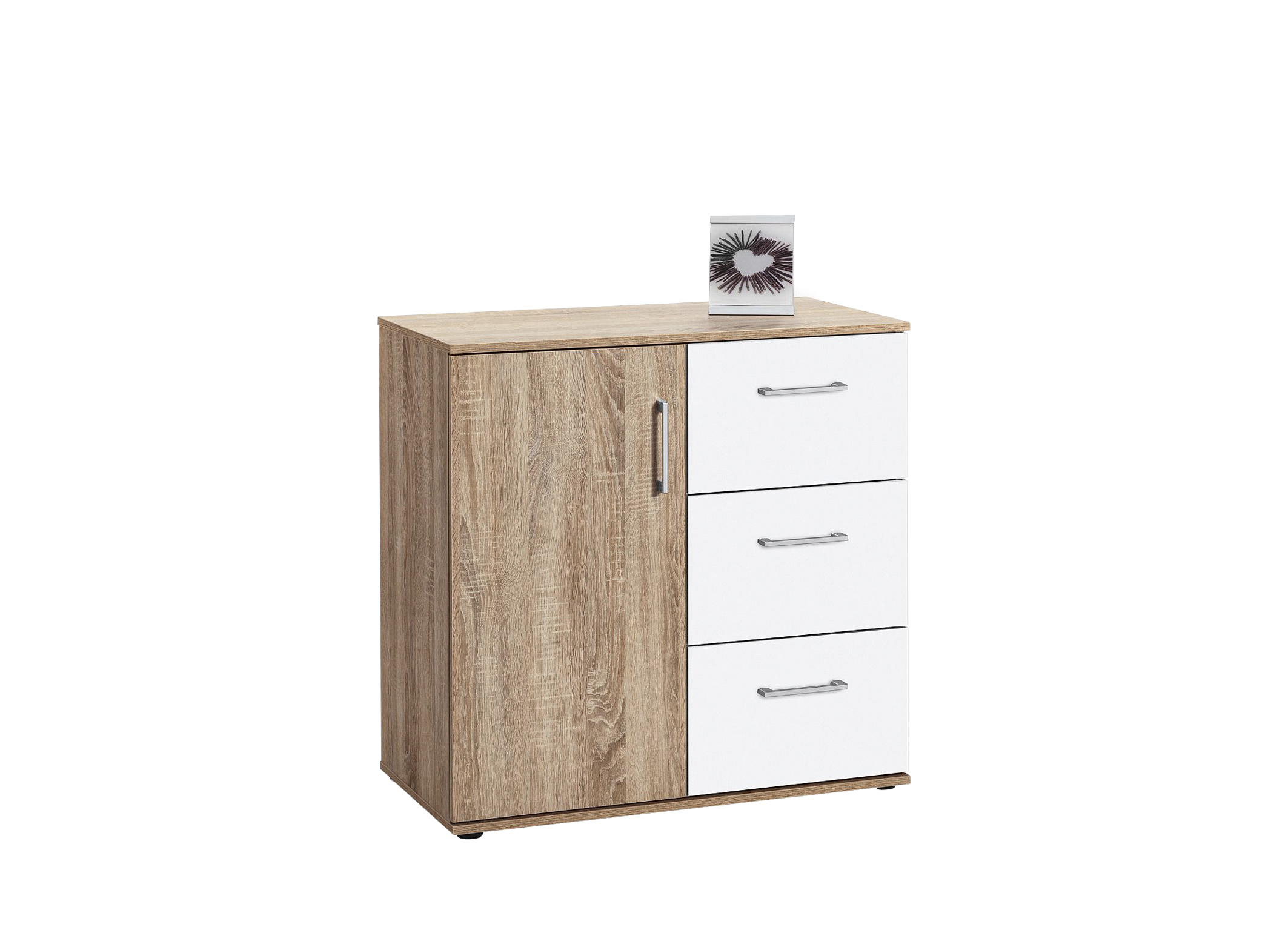 kommode mehrzweckkommode sideboard aktenschrank anrichte sonoma eiche weiss ebay. Black Bedroom Furniture Sets. Home Design Ideas