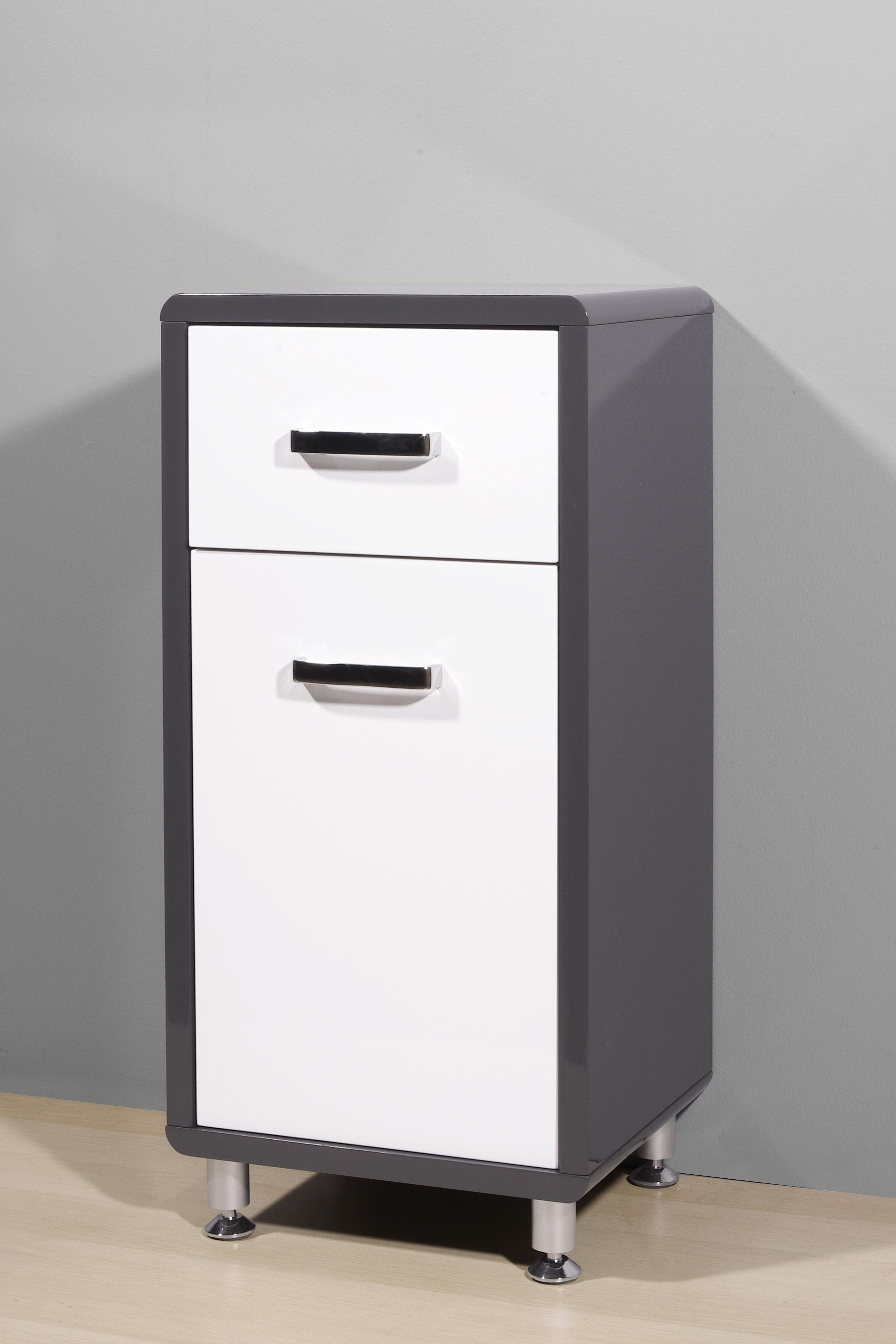 badm bel hochschrank h ngeschrank badkommode spiegelschrank anthrazit wei grau ebay. Black Bedroom Furniture Sets. Home Design Ideas