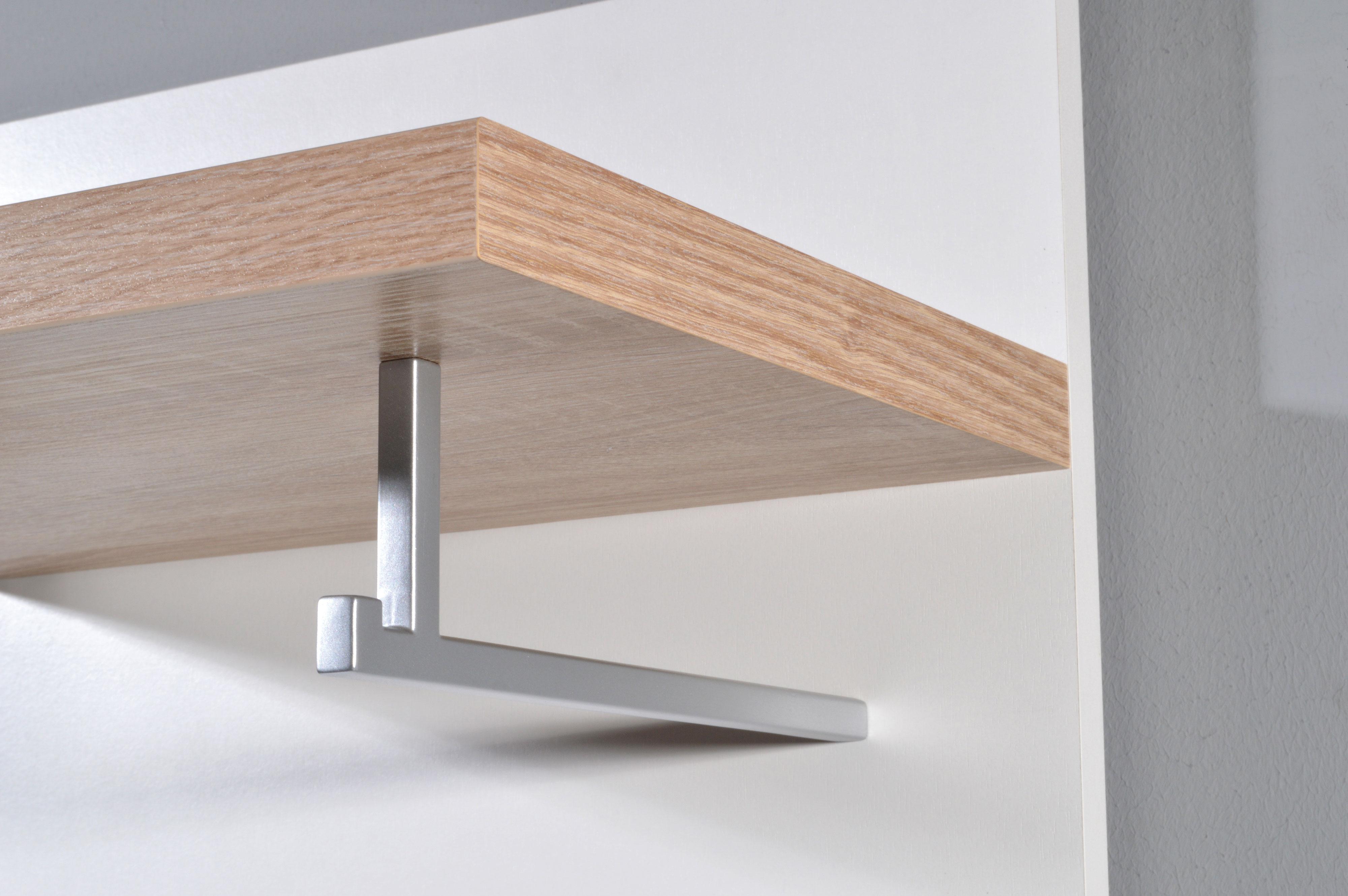 kompaktgarderobe garderobe flurm bel diele mod gm612 weiss sonoma eiche ebay. Black Bedroom Furniture Sets. Home Design Ideas