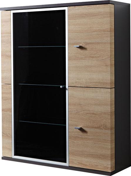 standvitrine und h ngevitrine schrank mod gm620 anthrazit. Black Bedroom Furniture Sets. Home Design Ideas