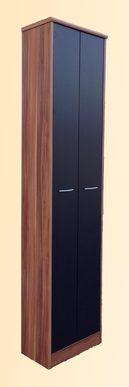 mehrzweckschrank 2 t rig aktenschrank schrank flur mod so161 nussbaum schwarz ebay. Black Bedroom Furniture Sets. Home Design Ideas