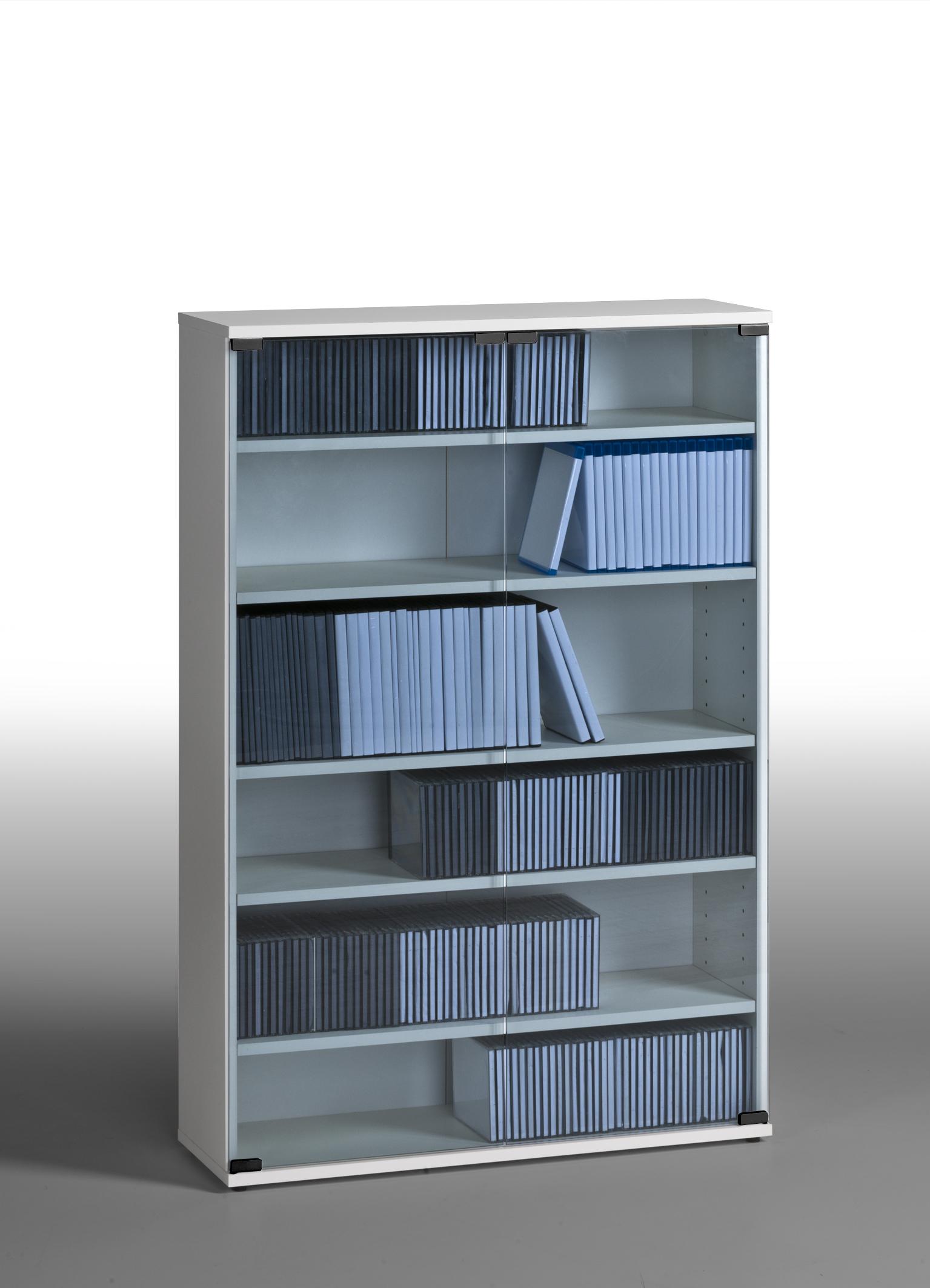 medienregal dvd cd blu ray b cherregal regal mod mj007 w. Black Bedroom Furniture Sets. Home Design Ideas