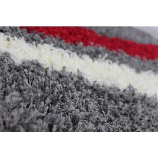 teppich l ufer 80 x 150 cm grau rot h c m bel. Black Bedroom Furniture Sets. Home Design Ideas