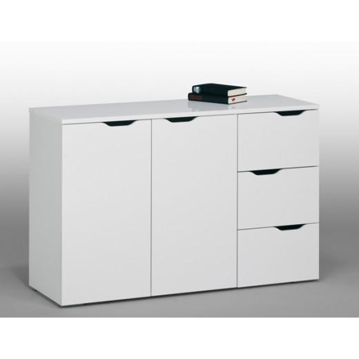 Sideboard Mod.MJ108_2 Icy Weiß Hochglanz