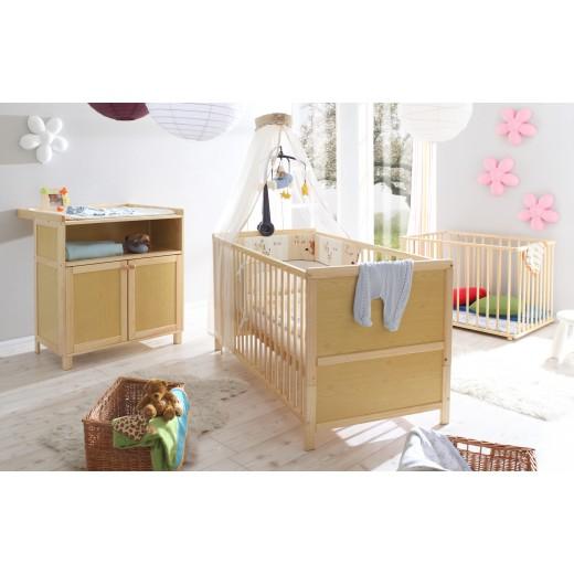 Babyzimmer 3-teilig Mod.836236 Kiefer Natur