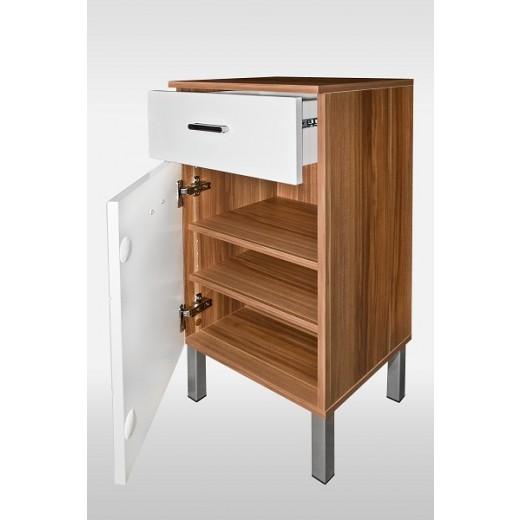 badkommode mod b021 nussbaum weiss hochglanz h c m bel. Black Bedroom Furniture Sets. Home Design Ideas