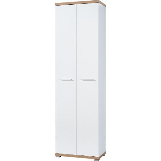 Kleiderschrank 2-türig Mod.GM727 Weiss - Sonoma Eiche - H&C Möbel