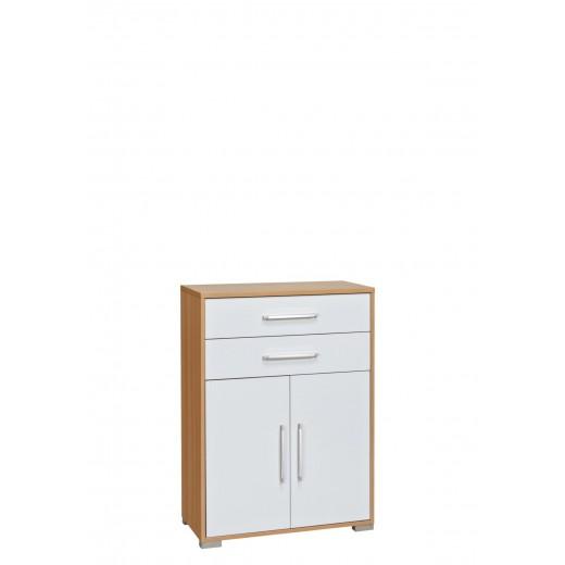 kommode mod mj394 buche wei hochglanz h c m bel. Black Bedroom Furniture Sets. Home Design Ideas