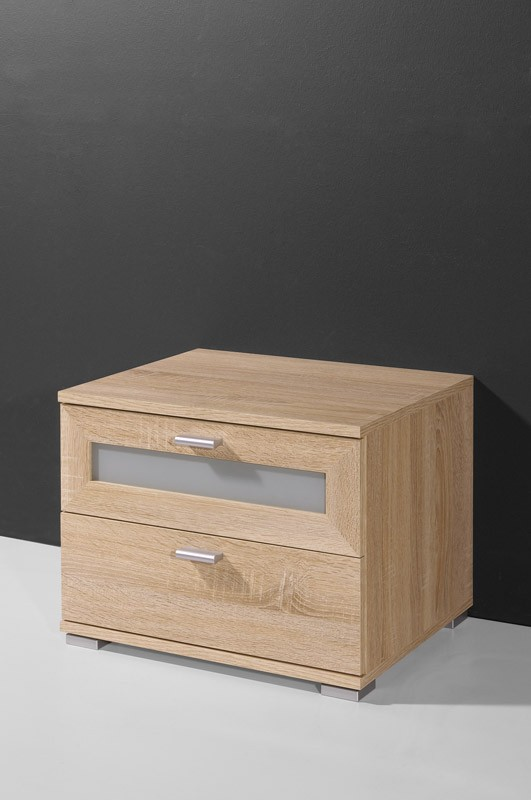 nachtschrank nachtkommode mod gm008 sonoma eiche h c m bel. Black Bedroom Furniture Sets. Home Design Ideas