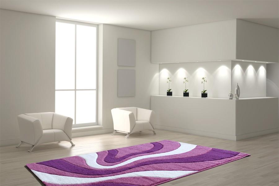 teppich 120 x 170 cm lila h c m bel. Black Bedroom Furniture Sets. Home Design Ideas