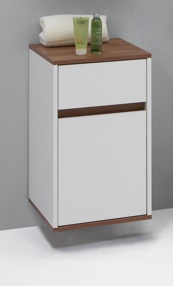 badkommode mod.b025 weiss/nussbaum - h&c möbel, Attraktive mobel