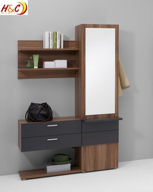 Garderobe mit spiegel mod g122 h c m bel - Garderobenschrank mit spiegel ...