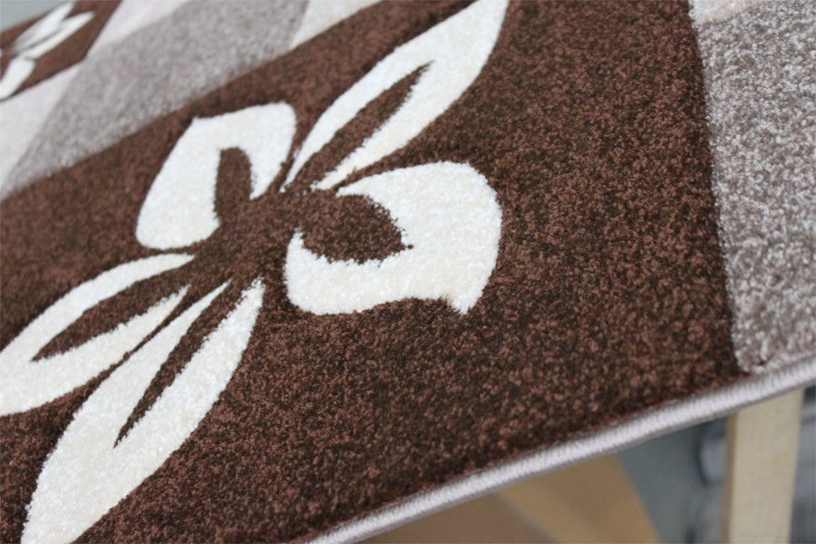 Teppich läufer braun  Teppich Läufer 80 x 300 cm Mod.6292A Braun - H&C Möbel