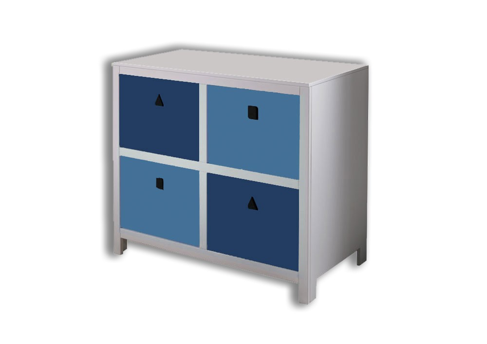 Kommode Mod 800527 Blau H C Mobel