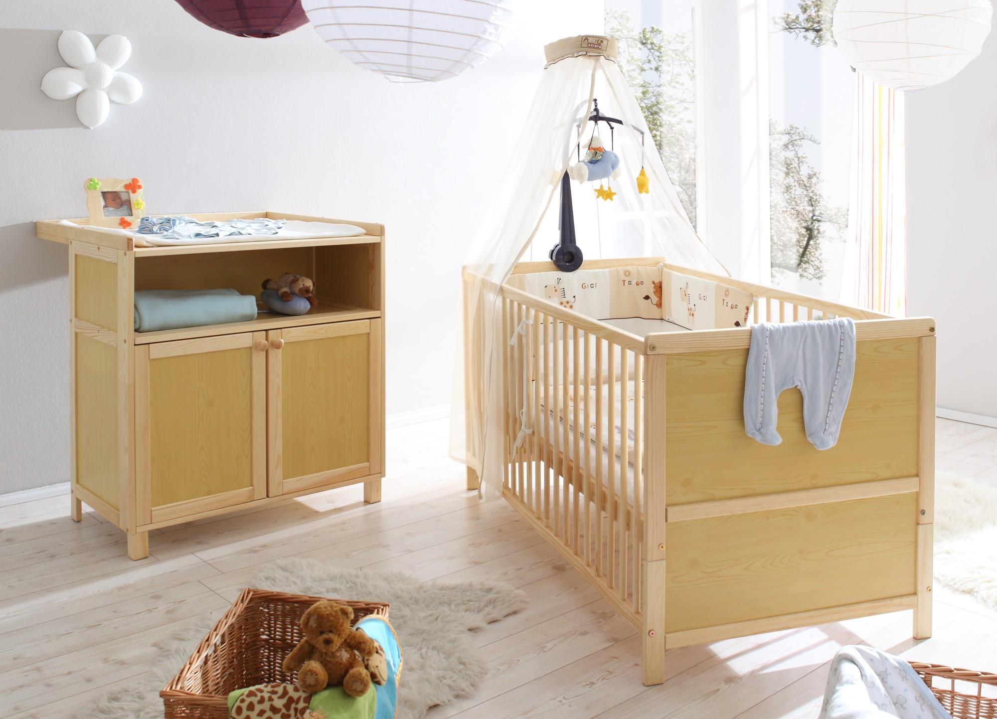 Babyzimmer 2 Teilig Mod 836229 Kiefer Natur H C Mobel