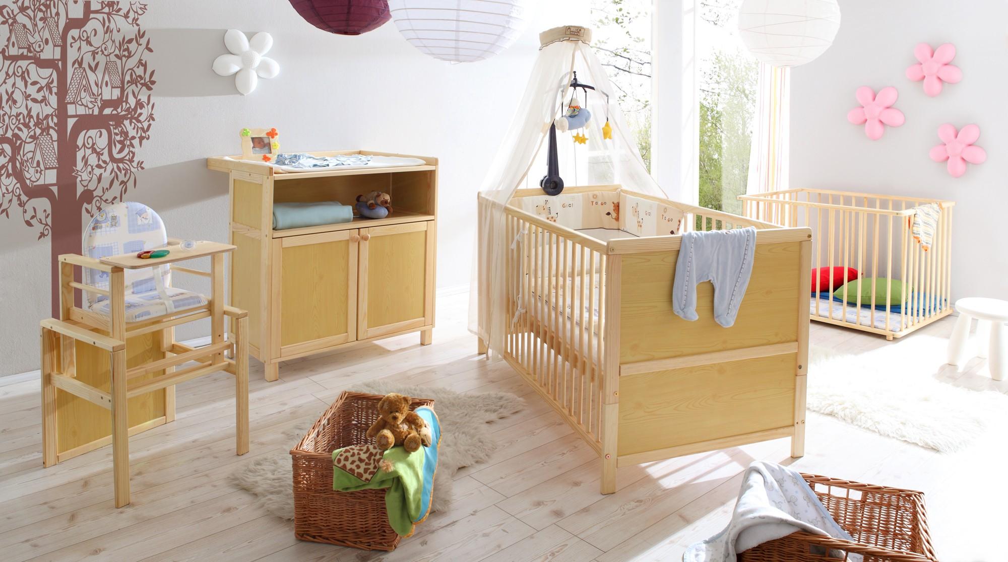Babyzimmer 4 Teilig Mod 836243 Kiefer Natur H C Mobel