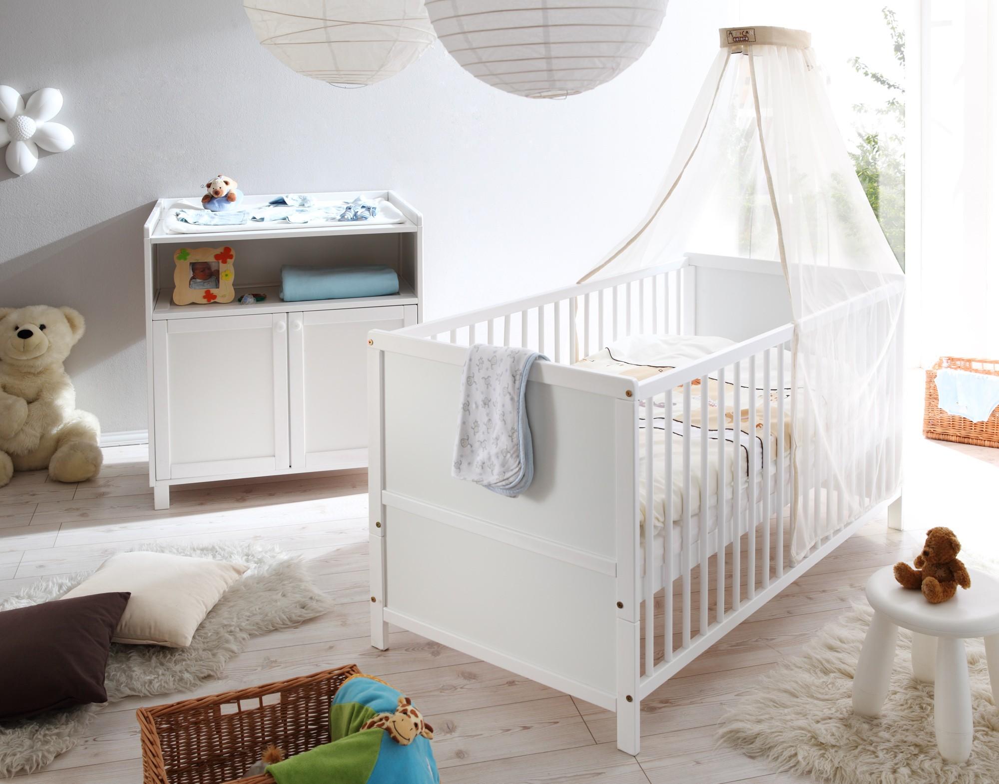 Babyzimmer 2 Teilig : babyzimmer 2 teilig kiefer weiss h c m bel ~ Frokenaadalensverden.com Haus und Dekorationen