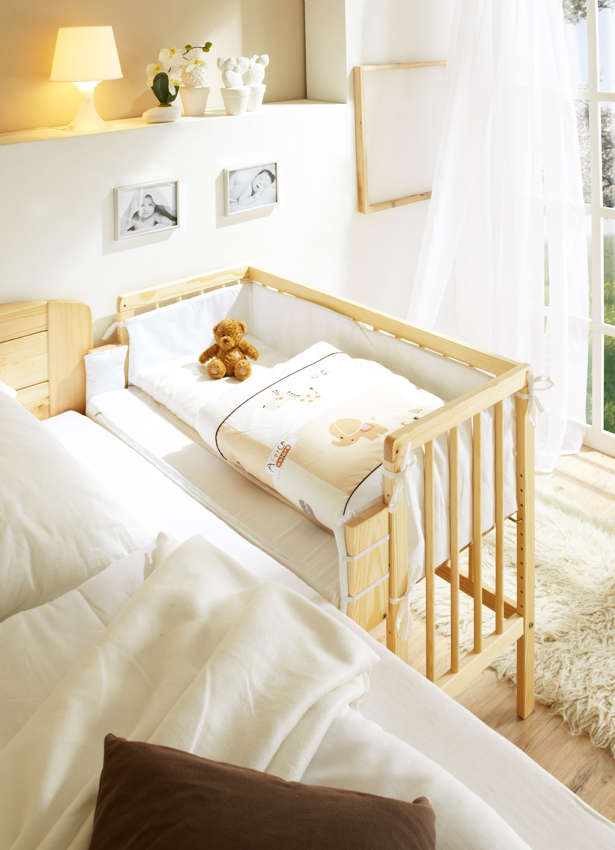 baby anstellbett kiefer natur h c m bel. Black Bedroom Furniture Sets. Home Design Ideas