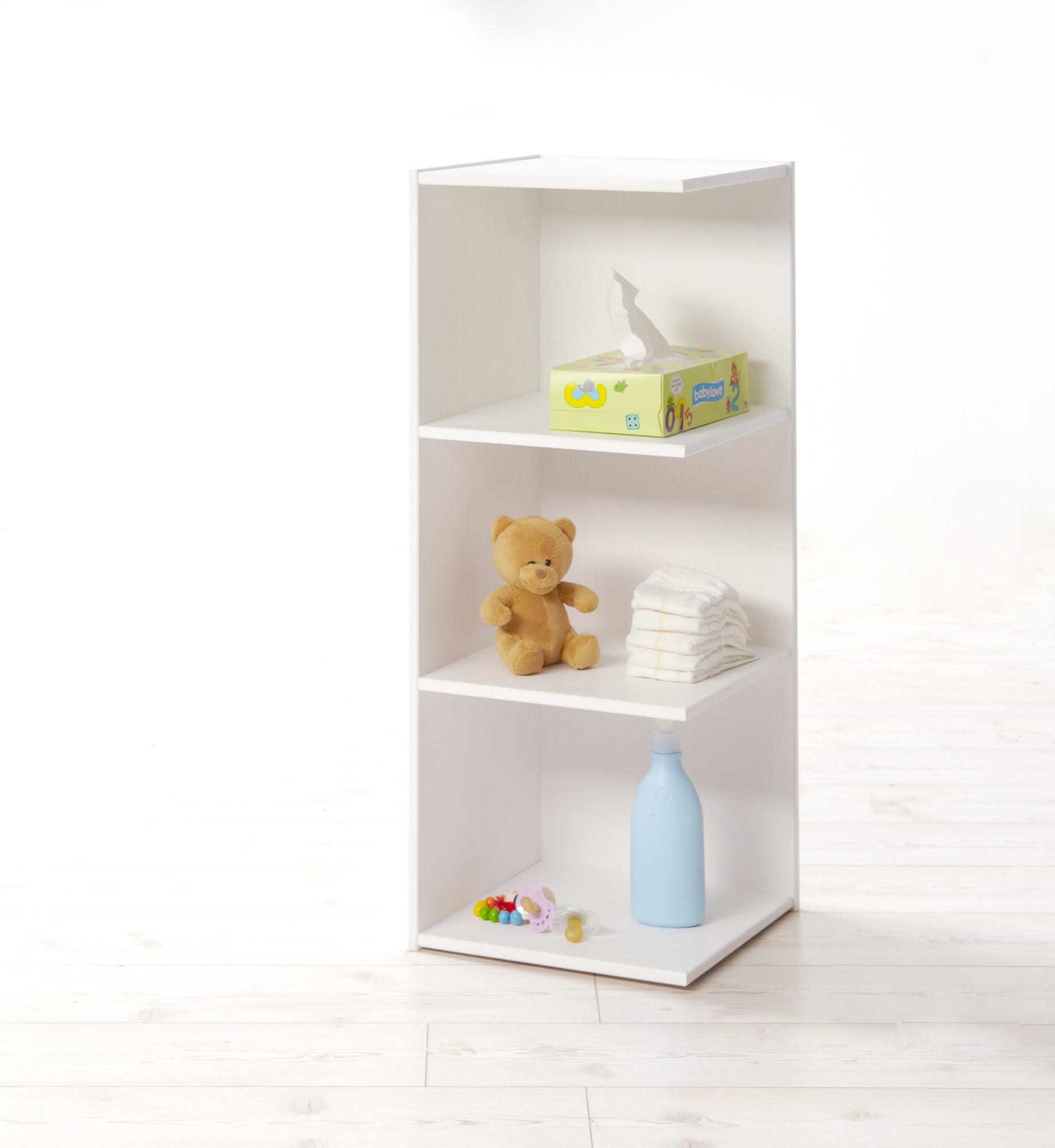 anstellregal f r wickelkommoden kiefer weiss h c m bel. Black Bedroom Furniture Sets. Home Design Ideas