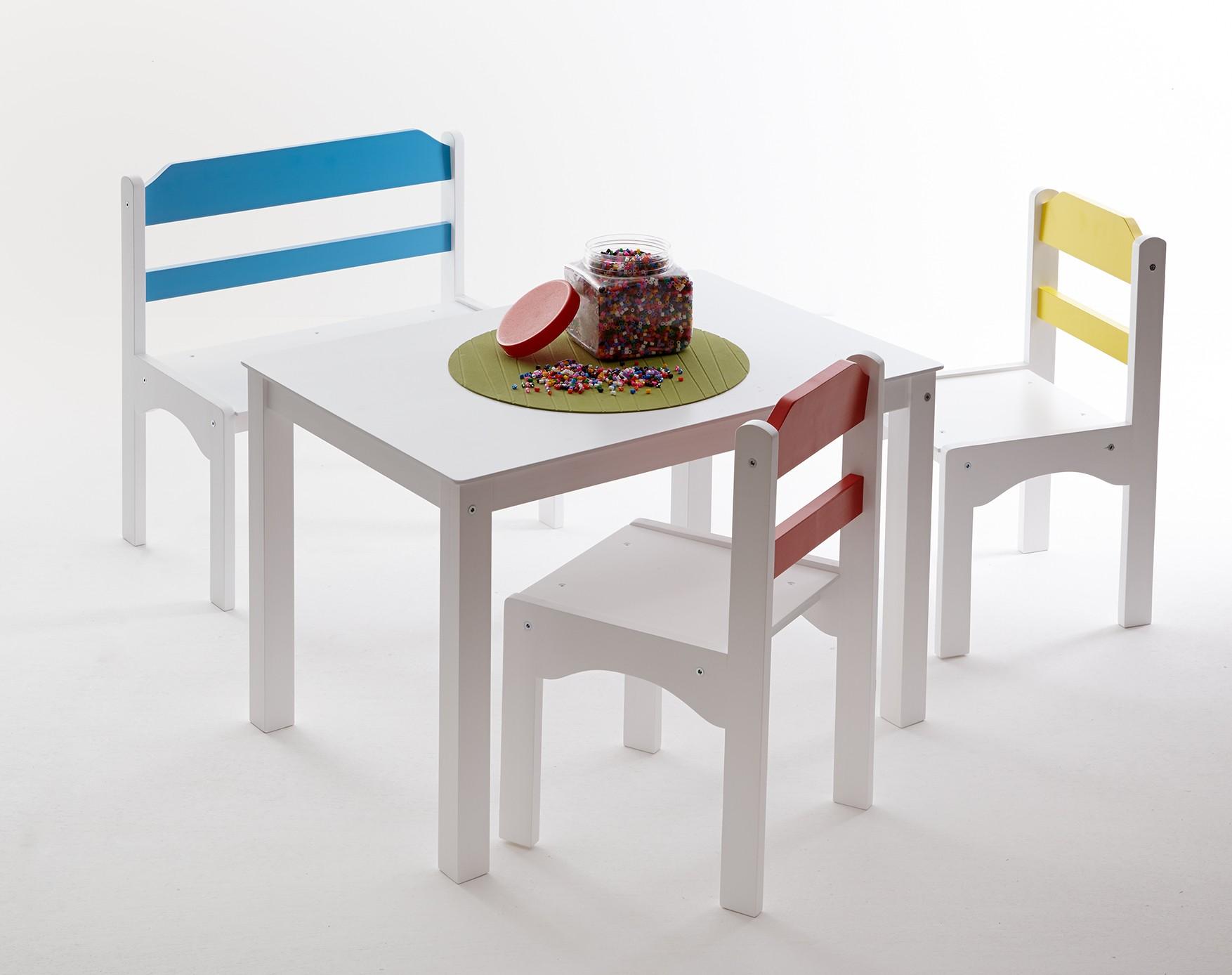 4tlg Tischgruppe Für Kinder Mod889263 Kiefer Weiss Hc Möbel