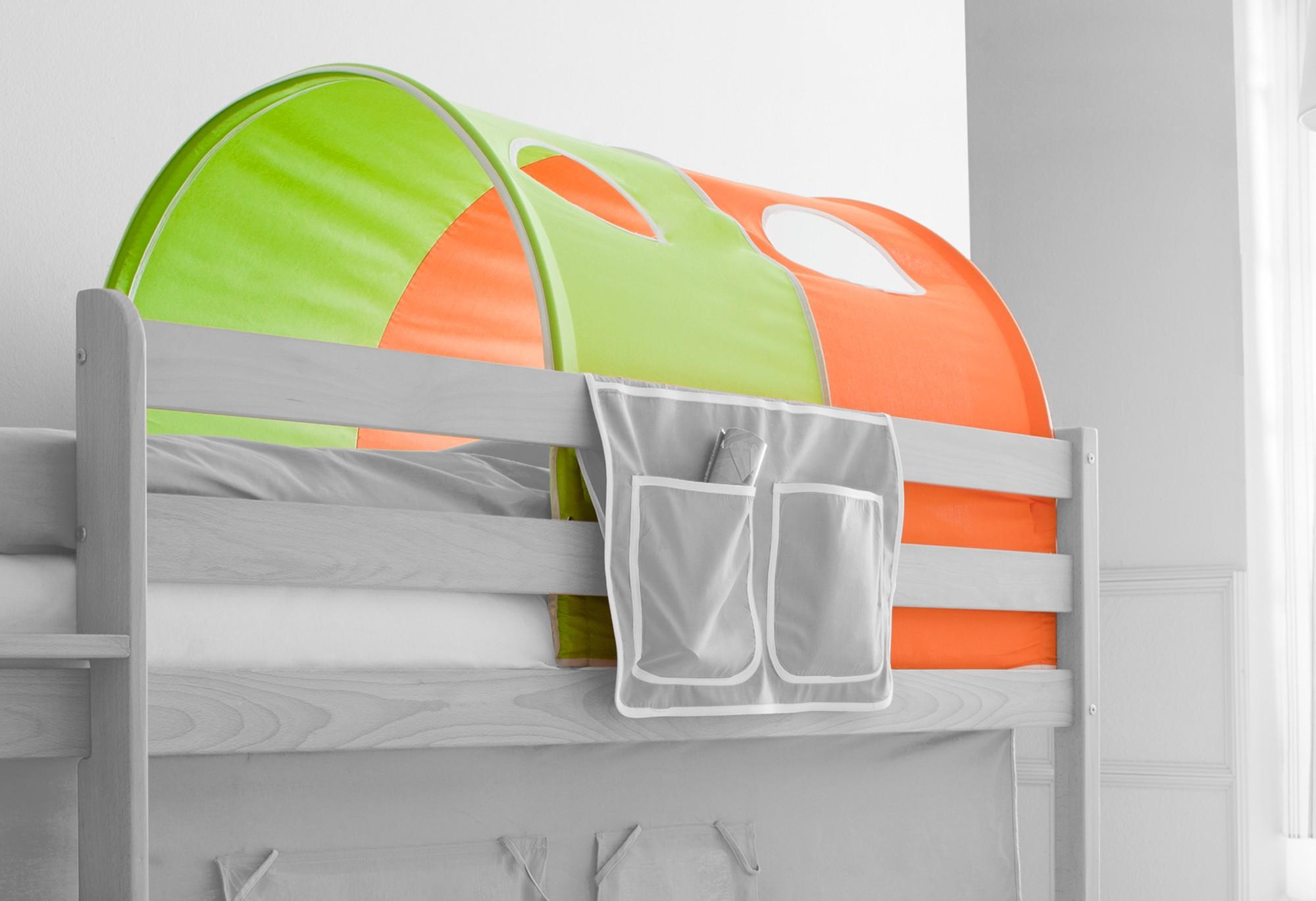 Tunnel Set Etagenbett : Tunnel für hoch und etagenbetten mod grün orange h c möbel